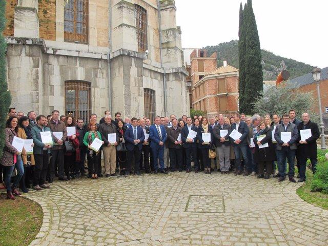Entrega de infomes del Pacto de los Alcaldes contra el cambio climático.