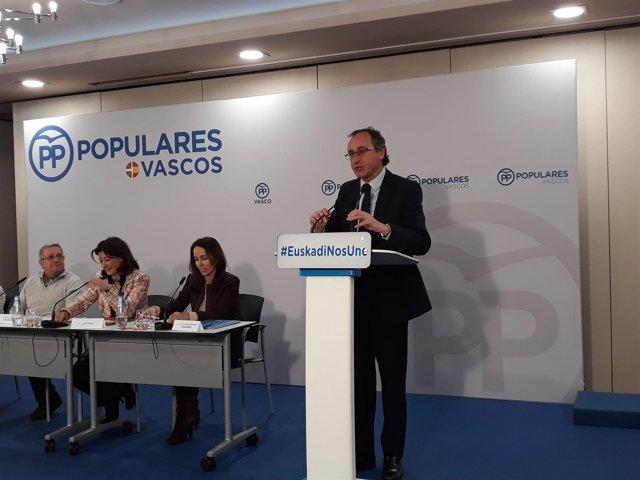 El presidente del PP vasco. Alfonso Alonso