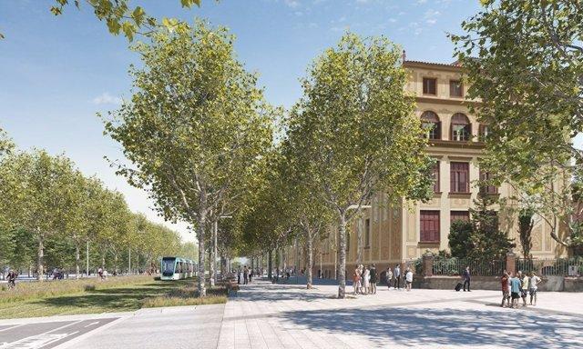 Proyecto de reforma de la Diagonal a su paso por la plaza Pablo Neruda