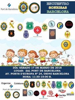 Acto de la Asociación Sonrisas con el Puerto de Barcelona