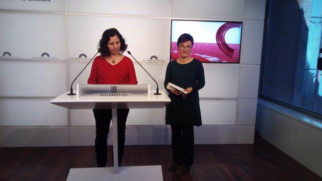 Las diputadas de CatECP Susanna Segovia y Marta Ribas