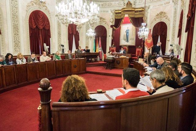 Pleno del Ayuntamiento de Cádiz