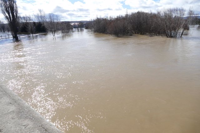 EL río Adaja hoy 15-3-2108