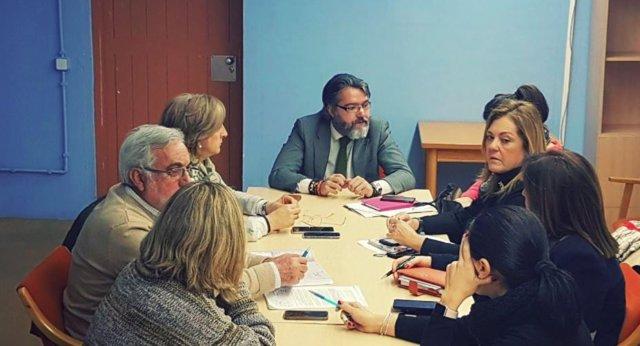 El alcalde de Brunete, Borja Gutiérrez, y el resto del Gobierno municipal