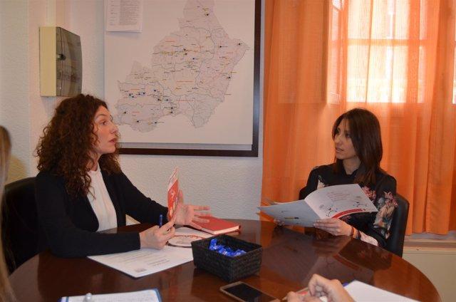 Diputación y Cruz Roja se reúnen para analizar proyectos de formación y empleo.