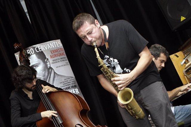 Jam session de Aurignac en la presentación de su concierto.