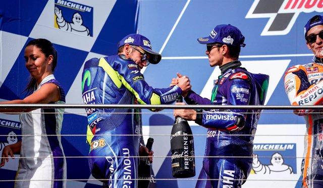 Valentino Rossi y Maverick Viñales (Movistar Yamaha MotoGP)
