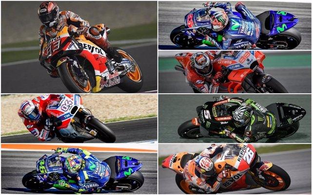 Candidatos al título de MotoGP en 2018