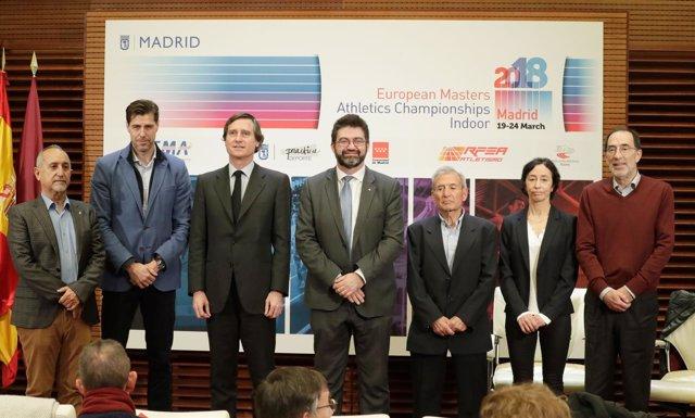 Presentación del Campeonato Europeo de Atletismo Máster en pista cubierta