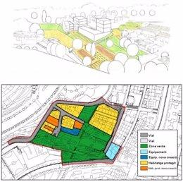 Propuesta de ordenación urbanística del MPGM de la Font de la Guatlla