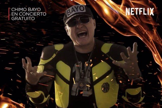 Cartel de la actuación de Chimo Bayo