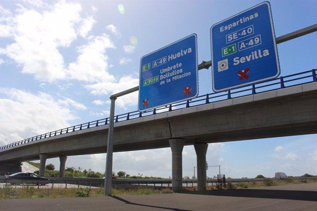 Conexión con la autovía SE-40