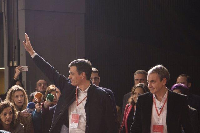 Pedro Sánchez y José Luis Rodríguez Zapatero