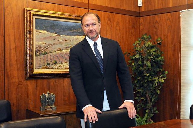 El presidente de Caja Rural del Sur, José Luis García-Palacios Álvarez