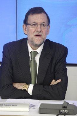 Mariano Rajoy, en la sede de Génova