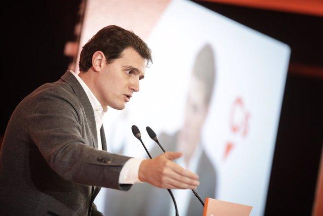 El líder 'naranja', en su intervención en Castellón