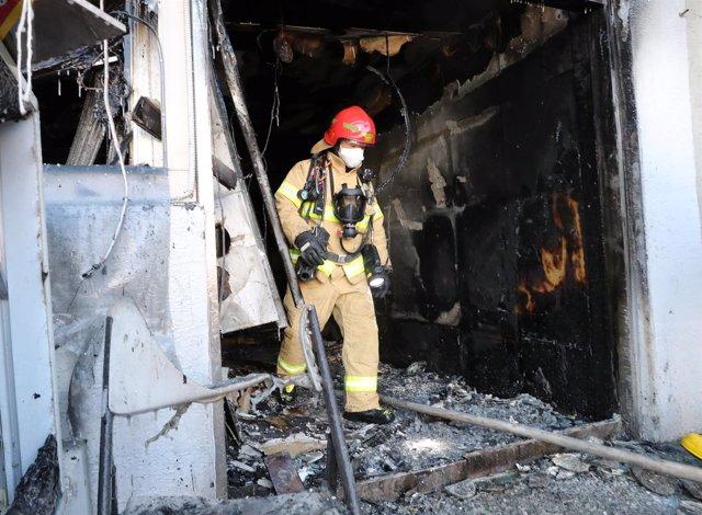 Incendio en un hospital de Miryang (Corea del Sur)