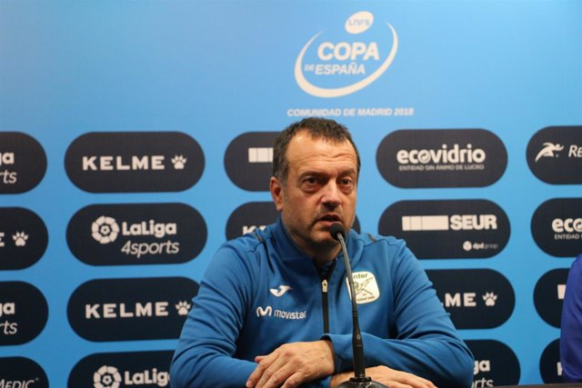 El entrenador de Movistar Inter, Jesús Velasco