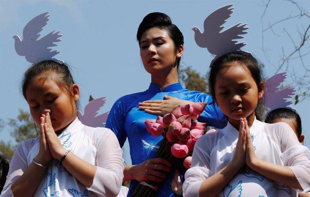 Ceremonia en recuerdo a las víctimas de May Lai