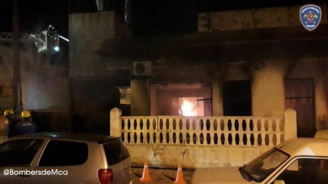 Incendio en una carpintería de Capdepera
