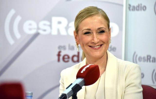 Cristina Cifuentes en una entrevista en esRadio