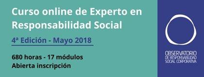 El Observatorio de Responsabilidad Social Corporativa lanza la cuarta edición del curso online de experto en RSC