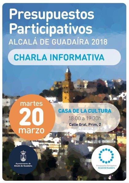 Alcalá de Guadaíra (Sevilla) convoca charla informativa para dar a conocer su proyecto de presupuestos participativos
