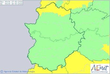 El 112 activa la alerta amarilla por nevadas en el norte de Cáceres este sábado