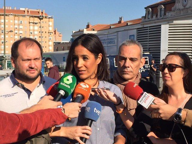 Begoña Villacís atiende a los medios