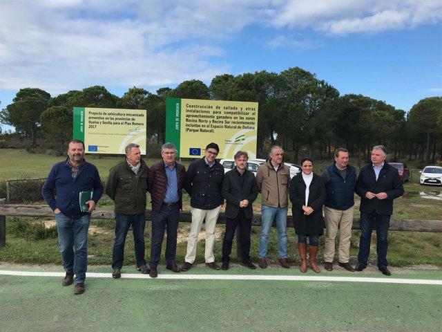 Presentación de obra para compatibilizar usos ganaderos y conservación en Doñana