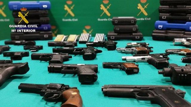 Armas incautadas en la Operación 'Benjamín'