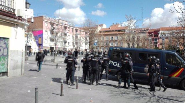 Cargas policiales en Lavapiés