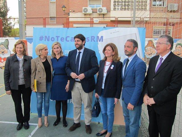 López Miras, en el acto de presentación de esta iniciativa regional