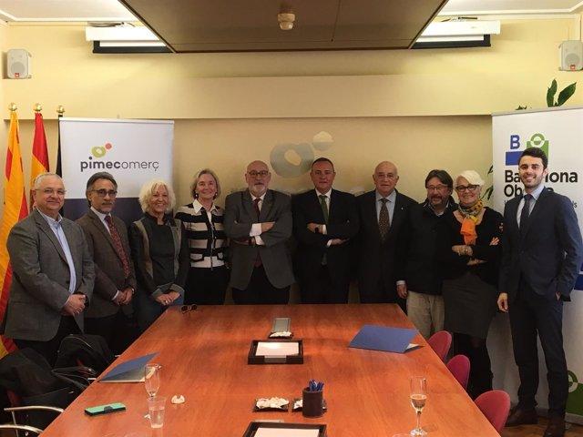 Acuerdo entre Pimec Comerç y Barcelona Oberta
