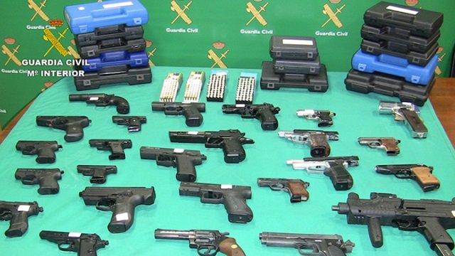 Armas intervenidas en la Operación Benjamín