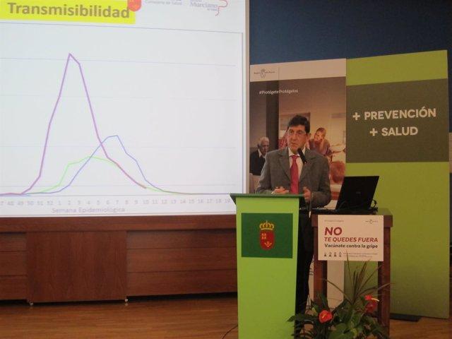 El Consejero De Salud, Manuel Villegas, Durante La Rueda De Prensa