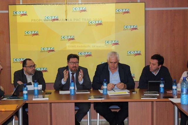 El consejero de Agricultura, Rodrigo Sánchez Haro, se reúne con OAG Andalucía