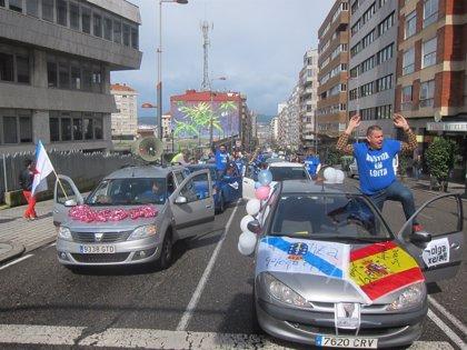 Personal de justicia visibiliza sus protestas en las ciudades tres días antes de la nueva reunión con la Xunta