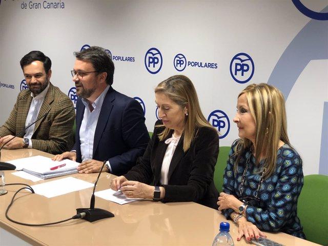 Asier Antona y Ana Pastor en rueda de prensa