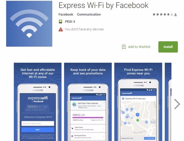 Express Wi-Fi de Facebook