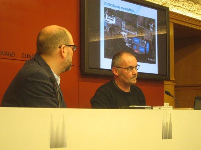 O alcalde de Santiago, Martiño Noriega, e Xan Duro presentan proxecto Edar
