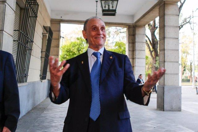 Lopera, a su llegada este martes al juicio sobre la gestión del Betis