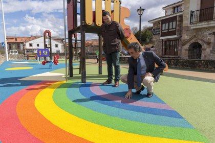 Acondicionados cuatro parques infantiles para reforzar el turismo rural en Ruente