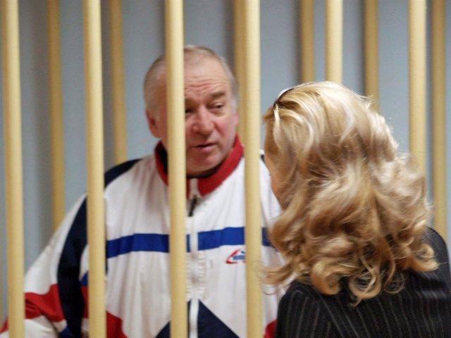 El ex espía ruso Sergei Skripal, cuando fue juzgado por un tribunal ruso
