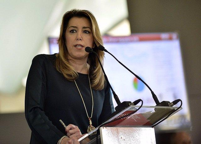Susana Díaz durante su intervención