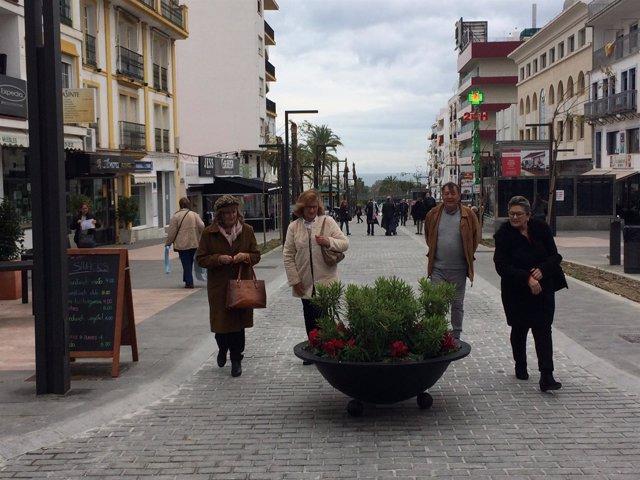 Calle Marqués del Duero de San Pedro Alcántara Marbella peatonalizar o no consul