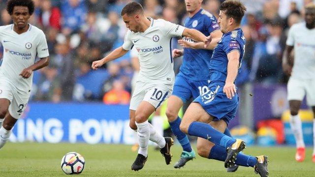 Hazard (Chelsea) contra el Leicester
