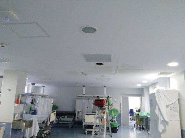 Rotura de tuberías en el Hospital Clínico de Madrid