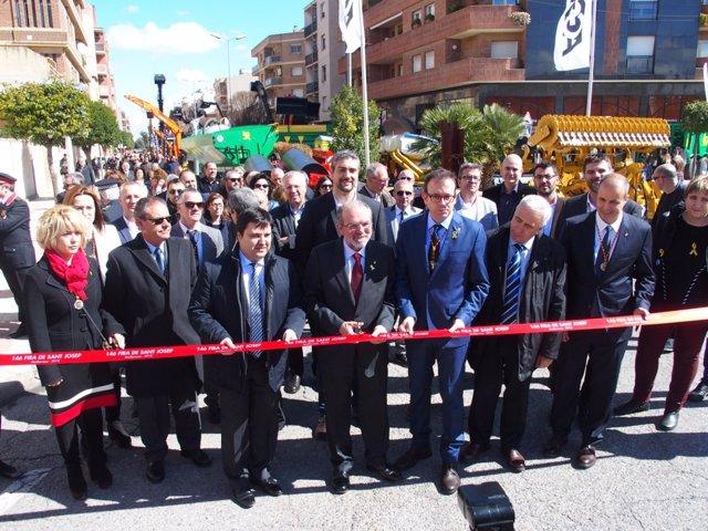 Inauguración de la Fira de Sant Josep