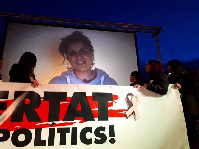 Video de Anna Gabriel en un acto de Òmnium y ANC en Barcelona